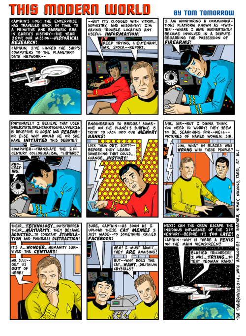 Cartoon: Capt. Kirk vs. The Internet