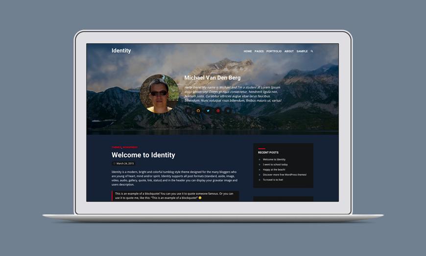 Identity WordPress Theme