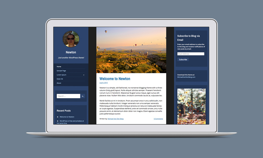 Newton WordPress Theme