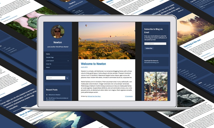 Screenshot of Newton (WordPress Theme)